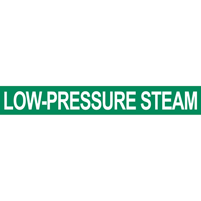 Low Pressure Steam Pipe Marker