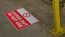 Lockout Tagout Floor Signs