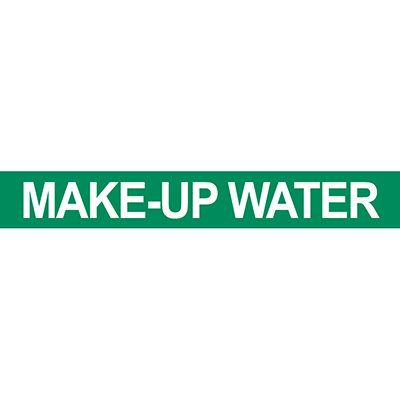 Make-Up Water Pipe Marker