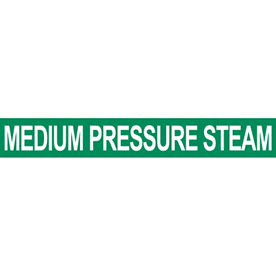 Medium Pressure Steam Pipe Marker