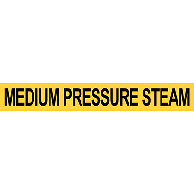 Pre-2007 ANSI Medium Pressure Steam Pipe Marker
