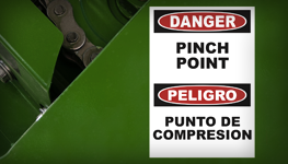 Nip and Pinch Point Signs