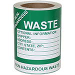 Non-HazMat Waste Labels