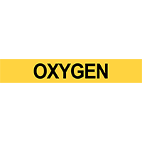 Oxygen Pipe Marker for Flammable Oxidizing