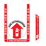 Fire Extinguisher Floor Sign Bundle