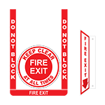 Fire Exit Floor Sign Bundle