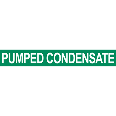 Pumped Condensate Pipe Marker
