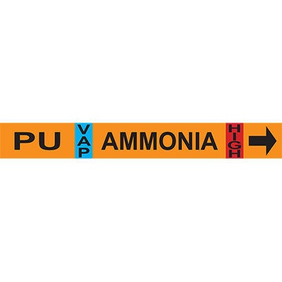 Purger Unit Ammonia Pipe Markers