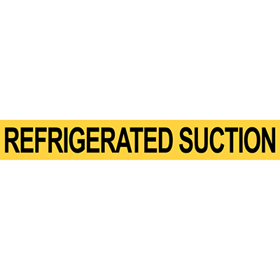 Refrigerated Suction Pipe Marker for Flammable Oxidizing