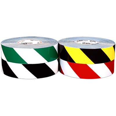 RIGID™ Striped Aisle Floor Marking Tape