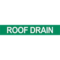 Roof Drain Pipe Marker