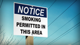 Smoking Permitted Signs
