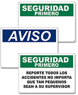 Spanish Signs & Labels