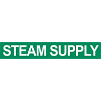 Steam Supply Pipe Marker