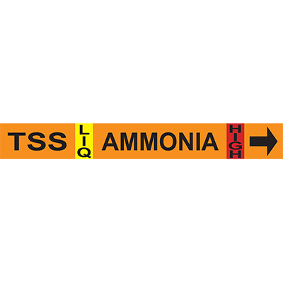 Thermosyphon Supply Ammonia Pipe Markers