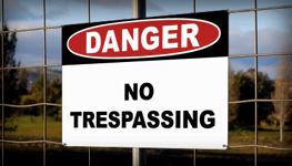 Tresspassing and Property Signs