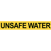 Pre-2007 ANSI Unsafe Water Pipe Marker
