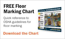 Quick reference to OSHA guidelines for floor marking