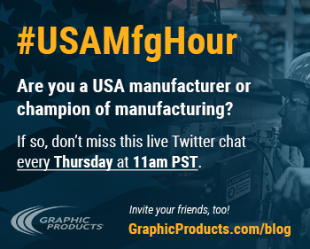 #USAMfgHour is a chat on Twitter.