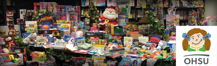 Graphic Products employees collected and donated toys to Doernbecher hospital for a third year.