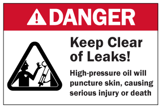 Danger Sign: Keep Clear of Leaks
