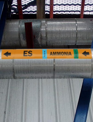 ammonia refrigeration label economizer suction