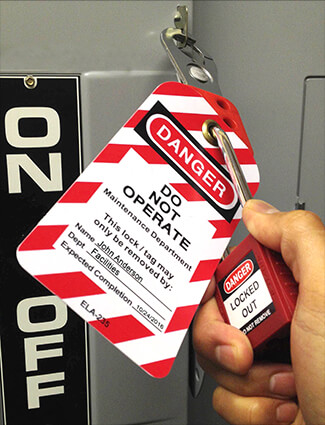 lockout tagout tag and lock