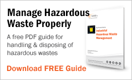A free PDF guide for handling and disposing of hazardous wastes.