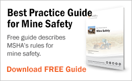 Free guide describes MSHA's rules for mine safety