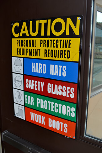 Construction PPE sign