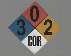 NFPA 704 Diamond Label