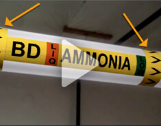 Create Ammonia Pipe Marking Labels